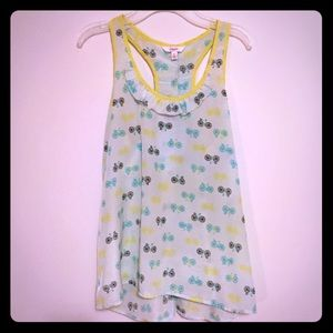 Candie's Tops - Candies adorable racer-bank tank with bicycles